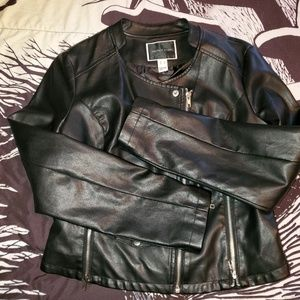 Jackets & Blazers - Black Faux leather jacket